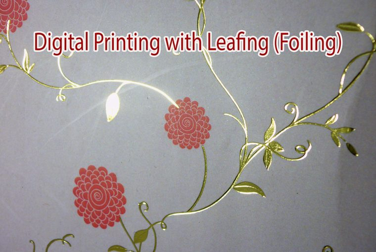 Digital Printing with leafing